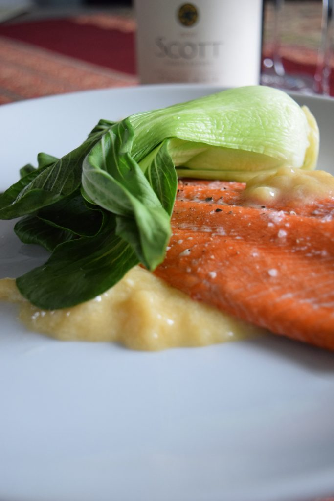 Orange Ginger Miso Glazed Salmon and Baby Bok Choy – Craving4More