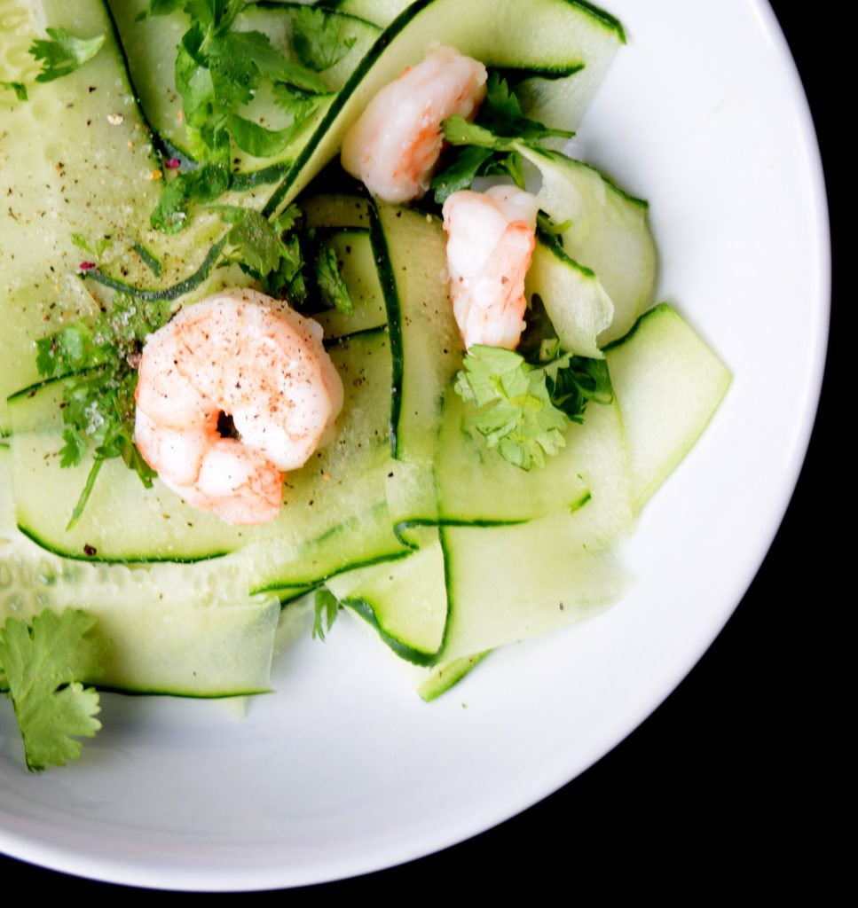Crunchy Cucumber and Shrimp Salad - Craving4More