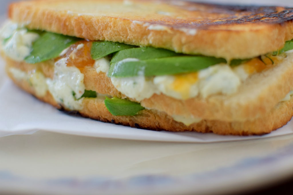 Chèvre, Avocado, & Salted Honey Cantaloupe Jam Grilled Cheese ...