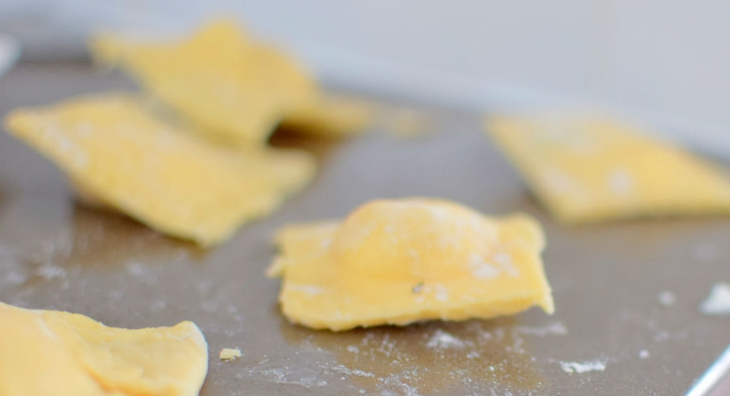 White Chocolate Lobster Ravioli with Vanilla Basil Butter Sauce - Craving4More