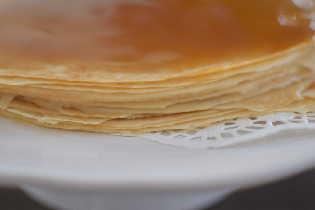 Butterscotch Rum Crepe Cake - Craving4More